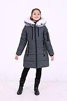 """Детская зимняя куртка для девочки от производителя """"Кайли"""" хаки"""