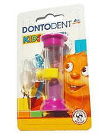 Dontodent Kids 3 Minuten Sanduhr - детские песочные часы на 3 минуты розовые