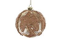 Елочный шар 8см, цвет - золото антик с декором BonaDi 118-507