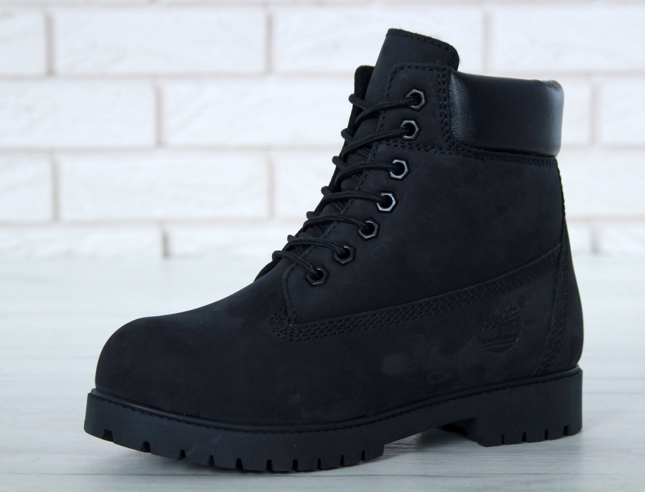 4a05dd247a4e Женские зимние ботинки Timberland, Черные, Натуральный нубук, Натуральная  шерсть