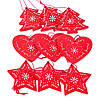 Новогодние деревянные подвески для декора 9 шт.