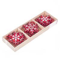 """Новогодние деревянные подвески """"Снежинки"""" для декора 9 шт."""