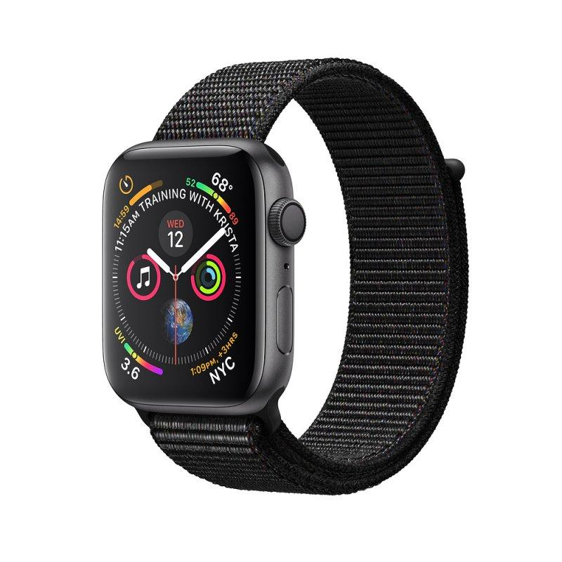 Apple Watch Series 4 44mm (GPS) Space Gray Aluminum Case with Black Sport Loop