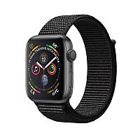 Apple Watch Series 4 44mm (GPS) Space Gray Aluminum Case with Black Sport Loop, фото 1