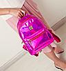 Рюкзак женский голографический в стиле Givenchy Розовый, фото 3