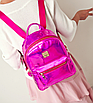 Рюкзак женский голографический в стиле Givenchy Розовый, фото 4