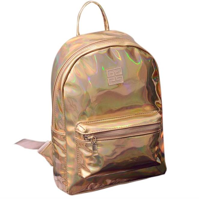 Рюкзак женский голографический в стиле Givenchy Золото