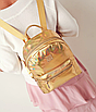 Рюкзак женский голографический в стиле Givenchy Золото, фото 3