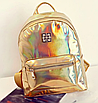 Рюкзак женский голографический в стиле Givenchy Золото, фото 2