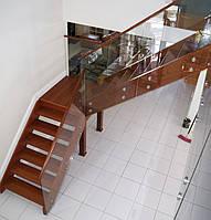 Стеклянное ограждение лестницы, фото 1