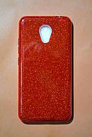 Чехол TWINS с блестками Meizu M5s Красный