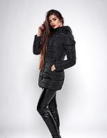 Молодежная зимняя куртка женская утеплитель силиконизированый синтепон