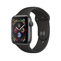 Apple Watch Series 4 44mm (GPS) Space Gray Aluminum Case with Black Sport Band, фото 1