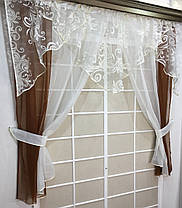 """Кухонные шторы """"Фелисия"""" Коричневая, фото 2"""