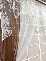 """Кухонные шторы """"Фелисия"""" Коричневая, фото 3"""