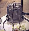 Рюкзак женский кожзам городской Weaving Розовый, фото 3