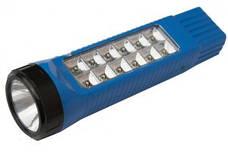 Аккумуляторный светодиодный фонарик-светильник YAJIA YJ-206, 1+12LED,походные фонари,переносные светильники