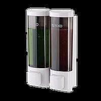 Дозатор жидкого мыла (двойной) для отелей для туалетных комнат, для ванных комнат и душевых  Rixo Lungo SW013W