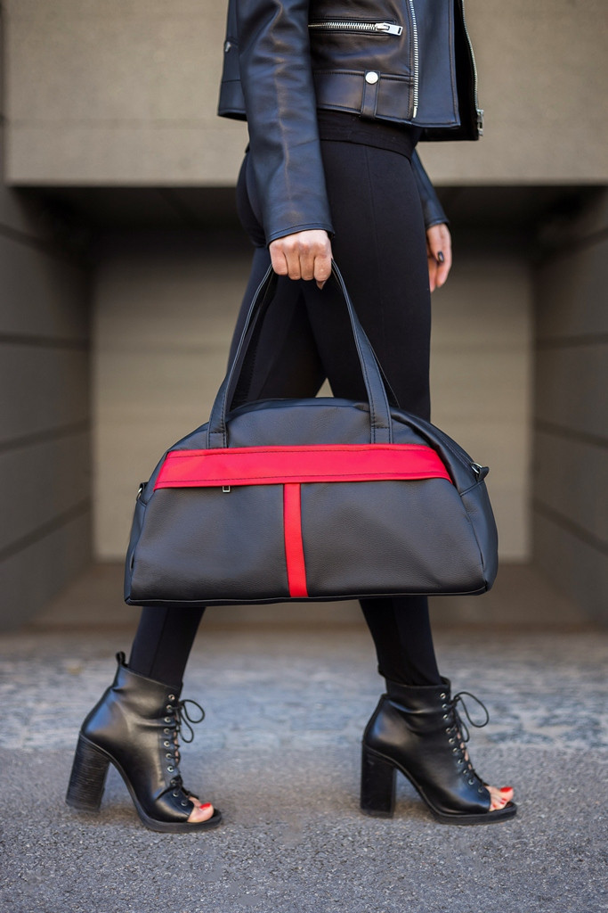 Спортивная сумка Kotico Sport 43х23х16 см черно-красная флай   , фото 1