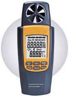 Анемометр SR8022 (0.4-20 m/s) (0-99999m3/s) с функцией измерения температуры и расхода воздуха, фото 1