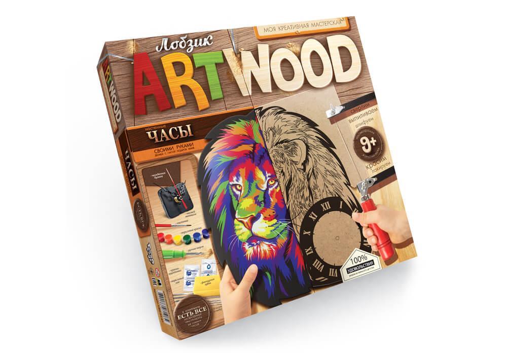 Настенные часы Art Wood Моя креативная мастерская Danko Toys Лев(LBZ-01-01)
