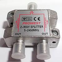 Делитель на 2 - 2WAY SPLITTER 5 - 2450МГц с проходом питания.