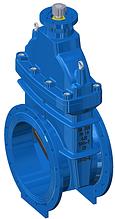 Засувка з гумованим клином під електропривод T. I. S service (Італія) A021 PMOT-S DN400 PN16 (ДУ400 РУ16)