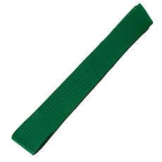 Пояс для кимоно зеленый 260 см