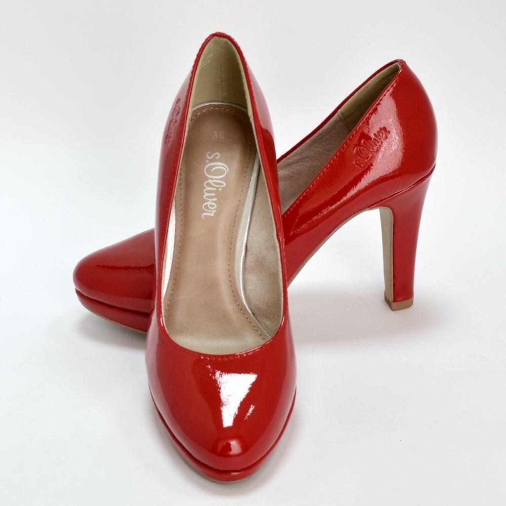 88f8efaa886a Туфли лодочки красные женские S.Oliver размер 36: продажа, цена в  Мелитополе. туфли ...