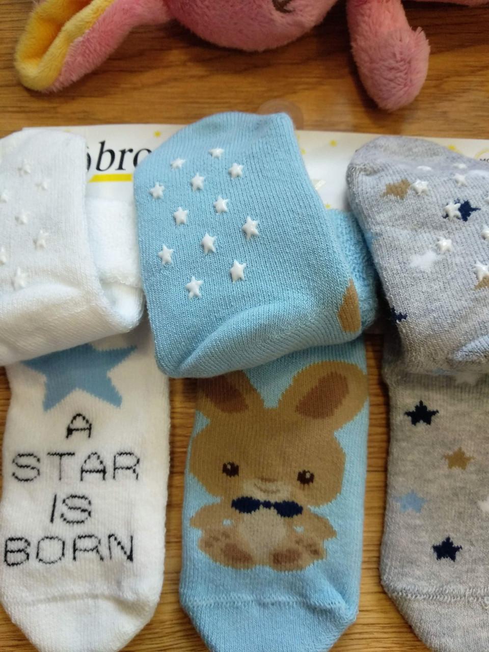 087174551a798 Теплые детские носки с тормозками Bross (размеры 16-18, 19-21 ...