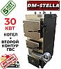 Твердотопливный котел на дровах 30 кВт DM-STELLA (двухконтурный)