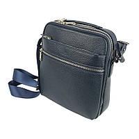 Шкіряна чоловіча сумка Canpellini 2018 d-blue в темно-синьому кольорі 309a36fa8bb90