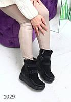 Ботиночки  черные зима на платформе Niced, фото 1