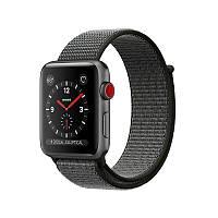 Apple Watch Series 3 38mm (GPS+LTE) Space Grey Aluminium Case with Dark Olive Sport Loop