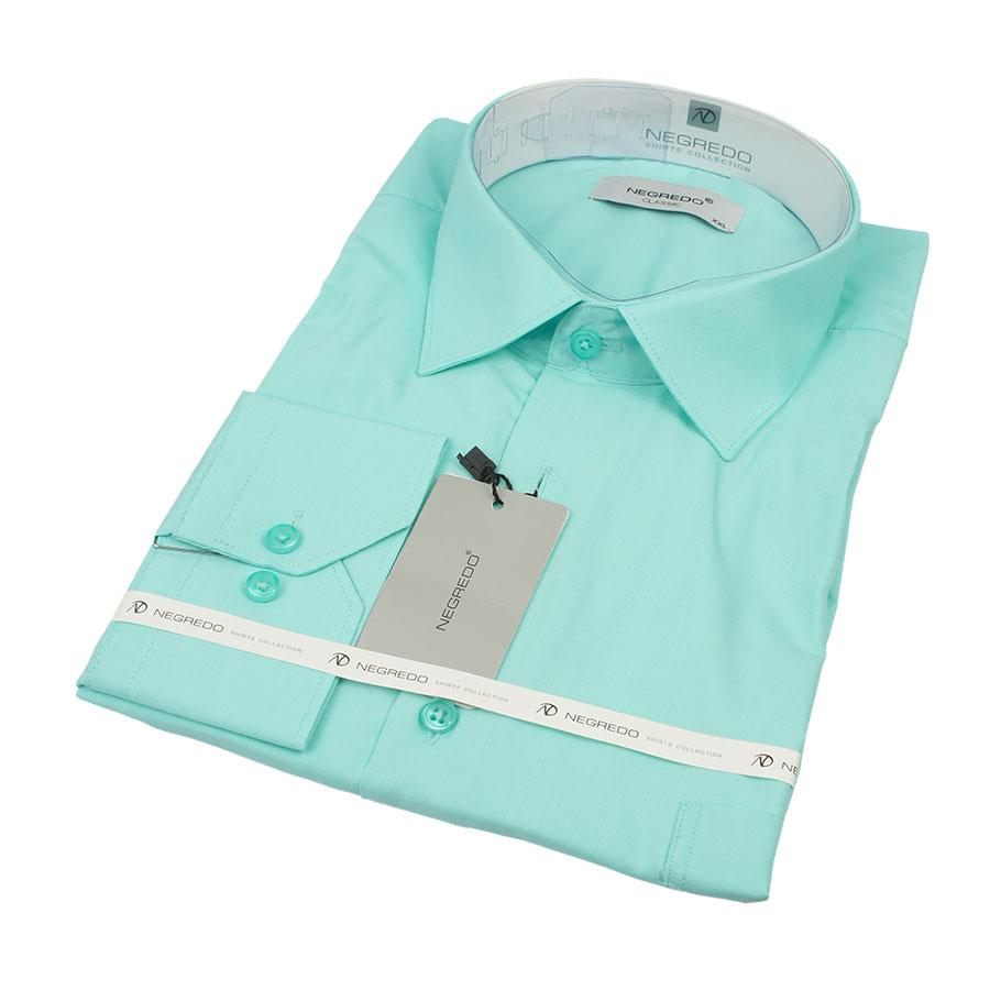 Бірюзова чоловіча сорочка Negredo 28017 Сlassic
