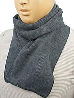 Стильний чоловічий шарф Samson M-C-51 grey в сірому кольорі