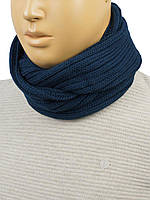 Темно-синій чоловічий шарф-снуд Apex М:51 d.blue