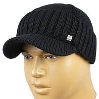 Стильна чоловіча шапка Apex Sport К0 35 black з козирком