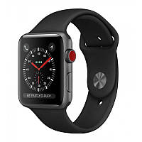 Apple Watch Series 3 38mm (GPS+LTE) Space Gray Aluminum Case with Black Sport Band
