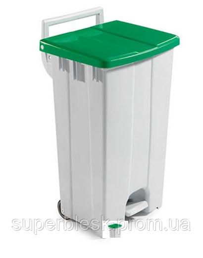 Контейнер для мусора с педалью Filmop 90л. Зеленая крышка (0000CO2094I)