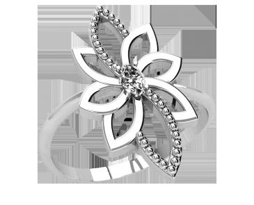 Кольцо  женское серебряное Air flower 21270