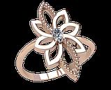 Кольцо  женское серебряное Air flower 21270, фото 2