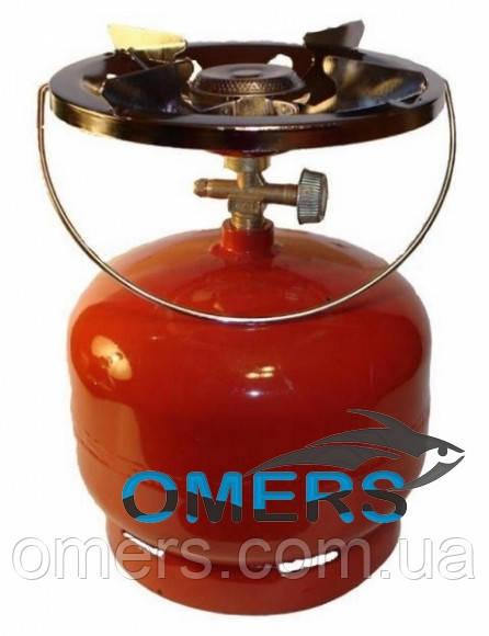 Баллон газовый с горелкой 5л «Пикник» c переходником для заправки