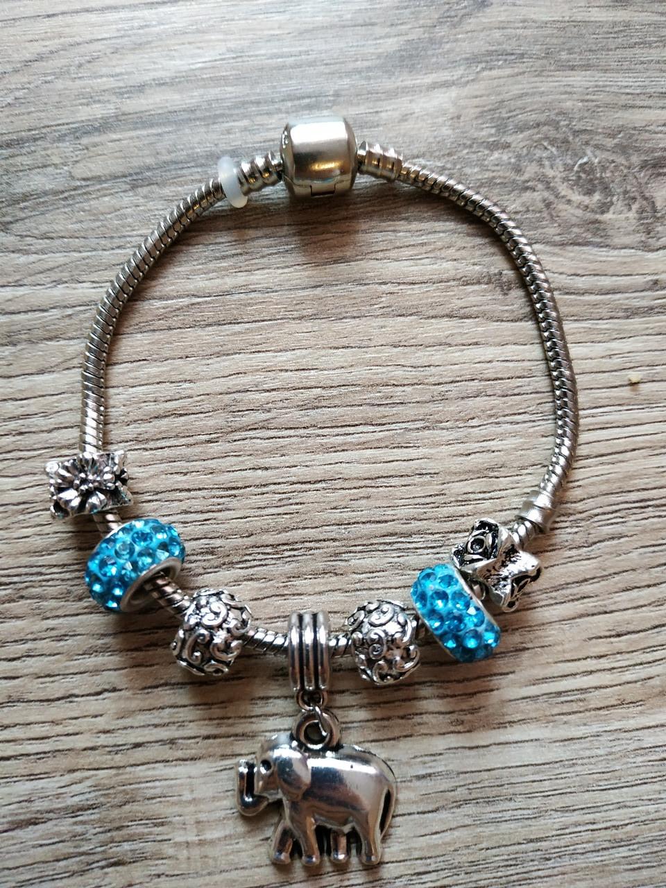 Женский браслет в стиле Pandora Слон