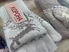 Перчатки митенки женские шерстяные 2-ные без пальцев Корона с откидной варежкой ПЖЗ-158, фото 8