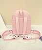 Рюкзак женский городской кожзам Melorin Розовый, фото 8