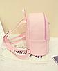 Рюкзак женский городской кожзам Melorin Розовый, фото 6