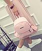 Рюкзак женский городской кожзам Melorin Розовый, фото 5