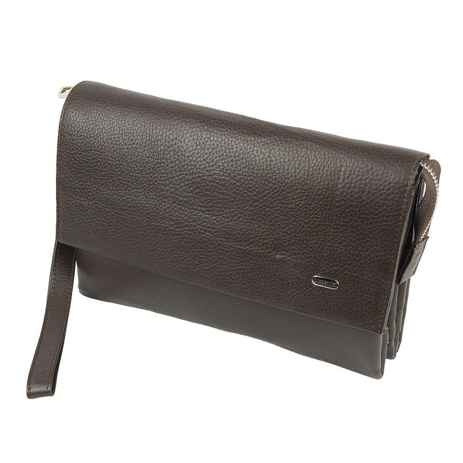 Темно-коричнева чоловіча барсетка Canpellini 8050