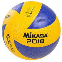 М'яч волейбольний Mikasa MVA300-2018 (PVC, №5, клеєний), фото 1